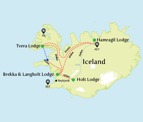 Nordic Lodges Island Map 2016 Roof'n Route