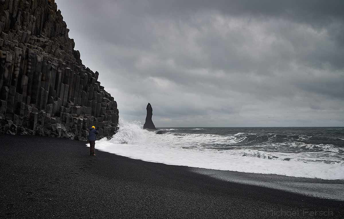 Black Beach, Reynisdrangar, Reynisfjara, Holt lodge, cottage, south coast, Iceland