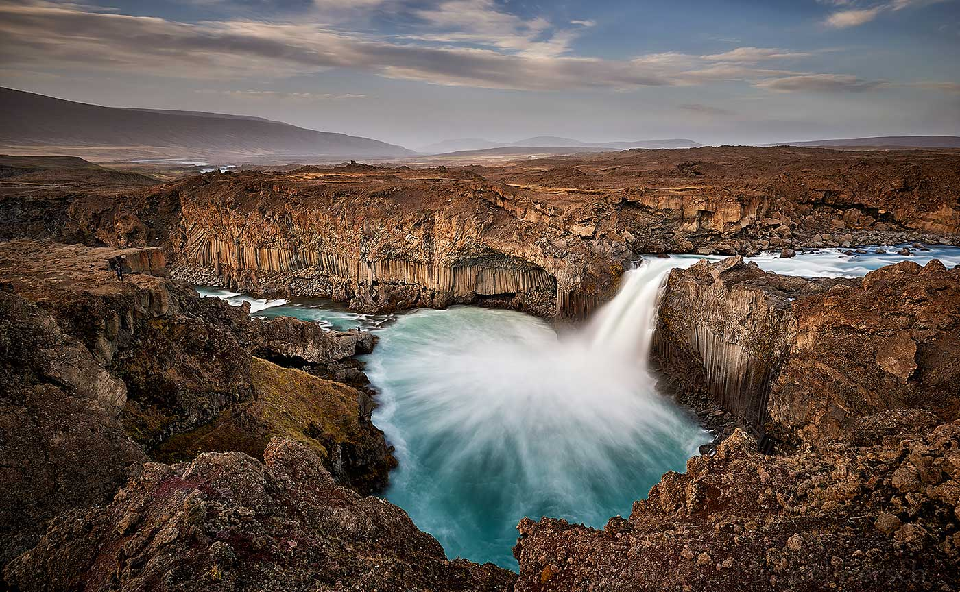 Aldeyarfoss, Ferienhaus Hamragil, Island, Wasserfall, Nordisland