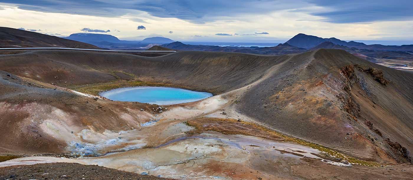 Vitikrater, Iceland, holiday home Hamragil, volcano